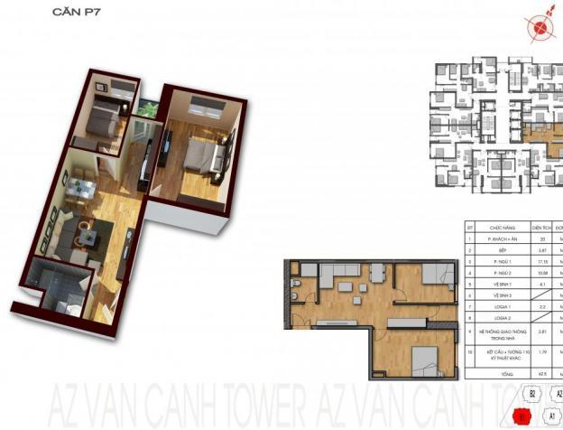Bán gấp căn 2 phòng ngủ 62m2 ở chung cư CT Number One Vân Canh giá 900tr-0919531285