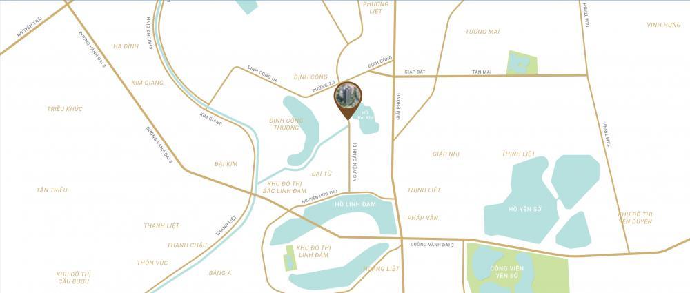 Cần bán căn 3phòng ngủ 1,8 tỷ, view hồ Định Công. Hỗ trợ vay LS 0%/năm. LH 0941 893 896